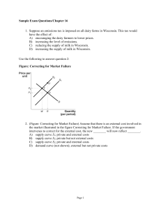 Sample Exam Questions/Chapter 16 1. Suppose an emissions tax is