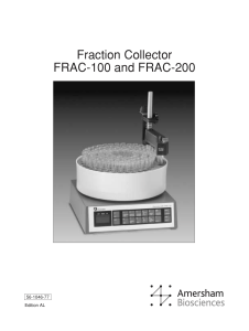 Fraction Collector FRAC-100 and FRAC-200