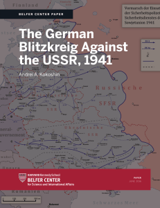 The German Blitzkreig Against the USSR, 1941