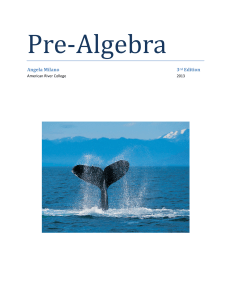 Complete PreAlgebra Textbook - PDF