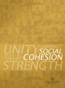 Social cohesion booklet - Nelson Mandela Foundation