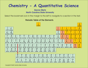 Chemistry - A Quantitative Science