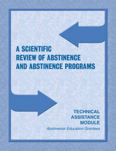 a scientific review of abstinence and abstinence programs