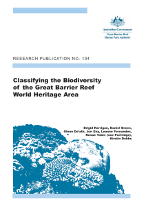 Classifying the Biodiversity of the Great Barrier Reef World Heritage