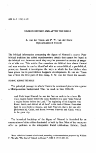NIMROD BEFORE AND AFTER THE BIBLE K. van der Toorn and