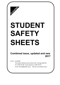 CLEAPSS Student Safety Sheets