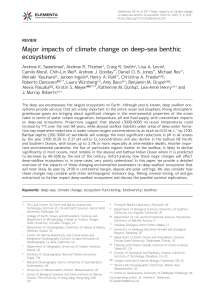 Major impacts of climate change on deep