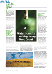 Water scarcity – making every drop count