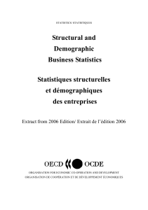 Structural and Demographic Business Statistics Statistiques