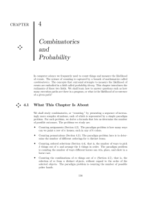 4 Combinatorics and Probability