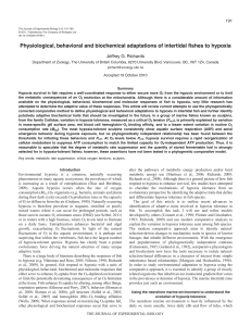 Physiological, behavioral and biochemical adaptations of intertidal