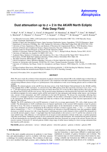 Dust attenuation up to z ≃ 2 in the AKARI North Ecliptic Pole Deep