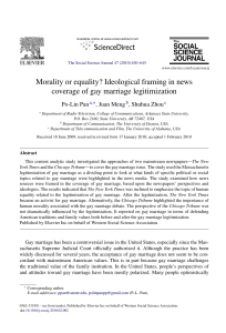 Morality or equality? Ideological framing in news coverage of gay