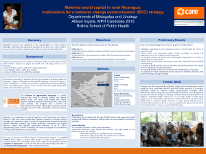Maternal social capital in rural Nicaragua: Implications for a