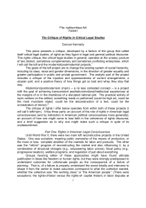 rightscritique.full 7/25/01 The Critique of Rights in Critical