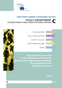 How could the Convention CEDAW B IMPLEMENTED IN EU