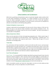 Green Machine Safety Guidelines