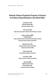 Full Text - Association of Domestic Violence Intervention Programs