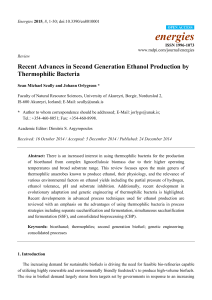 Recent Advances in Second Generation Ethanol Production by