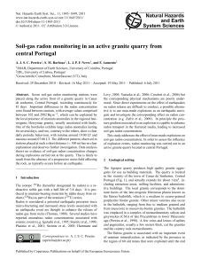 Soil-gas radon monitoring in an active granite quarry from