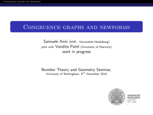 Congruence graphs and newforms