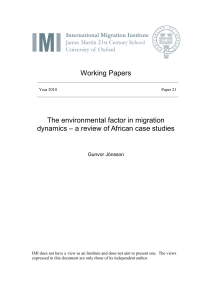 The environmental factor in migration dynamics
