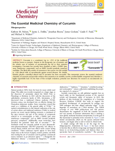 The Essential Medicinal Chemistry of Curcumin