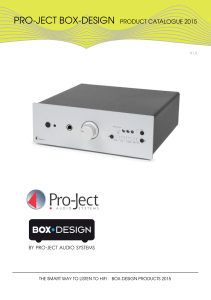 pro-ject box-design product catalogue 2015