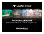 PostClassical Period - Mr. Helms World History