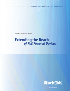 Extending the Reach of PoE Powered Devices