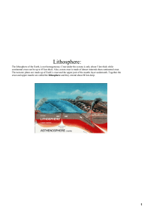ocks in the lithosphere
