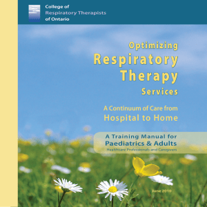 Optimizing Respiratory Therapy