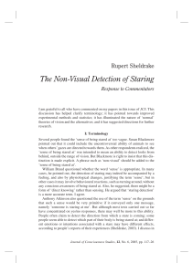 The Non-Visual Detection of Staring