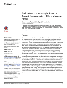 Audio-Visual and Meaningful Semantic Context Enhancements in