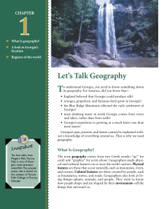 Chapter 1 (Let`s Talk Geography)