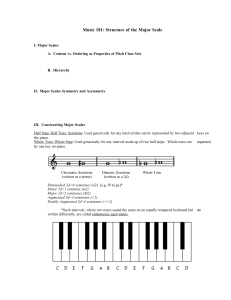 Music 181: Structure of the Major Scale
