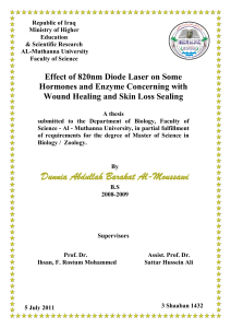 Effect of 820nm Diode Laser on Some Hormones and Enzymes