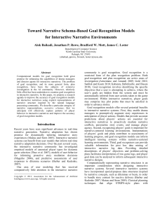 Toward Narrative Schema-Based Goal Recognition Models for