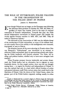 inthe organization of the polish army in france