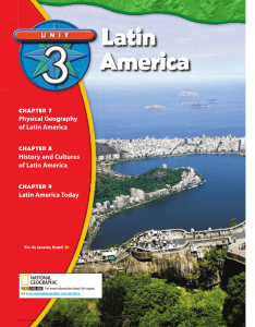 Chapter 7: Physical Geography of Latin America