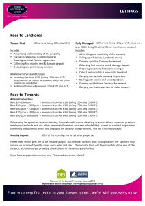 Fees to Landlords Fees to Tenants