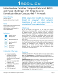 Infrastructure Provider Company Embraced BYOD and Faced