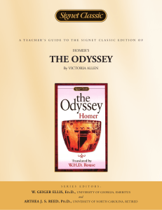 "Teacher`s Guide: Homer`s "" The Odyssey """
