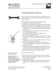 Cleaning Electric Motors - The Disaster Handbook
