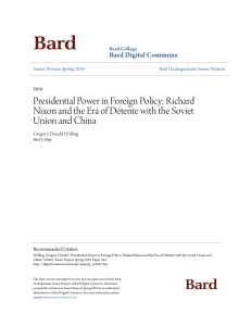 Presidential Power in Foreign Policy: Richard Nixon and the Era of