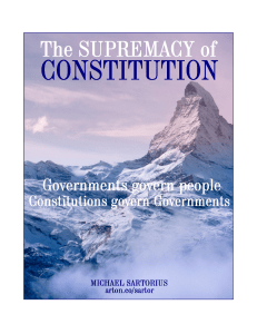 The Supremacy of Constitution