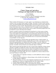 Climate Change and Agriculture: Challenges and Opportunities for