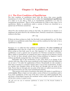 Chapter 11 Equilibrium - Farmingdale State College
