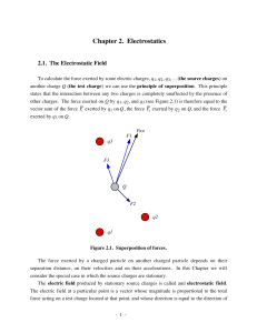 Chapter 2. Electrostatics