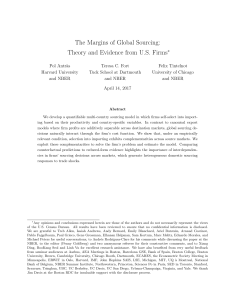 The Margins of Global Sourcing: Theory and
